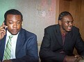 Mr Derick Brooks Corporate Manager for the whole Philadelphia 76rs in the company of  Samuel Dalembert