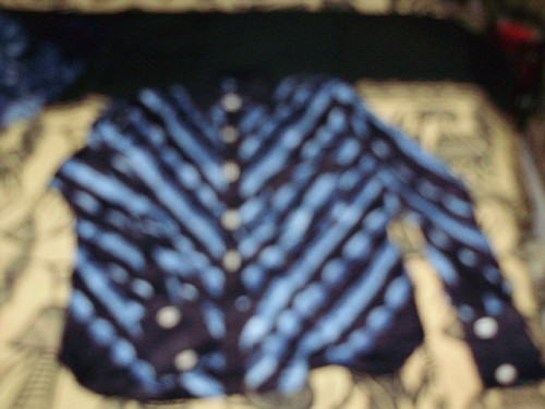 Cute little INDIGO (Malian Cotton) Poet's Top for Suzanne! $50 including shipping