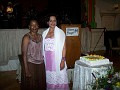 Mrs. Gerda Thybulle Madhere, Haitian Consulate General staff, NY with Mrs. Rachel Moscoso Denis