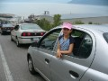 line to ferry, Ile aux Coudres