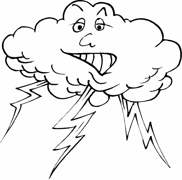 how to draw a thunderstorm