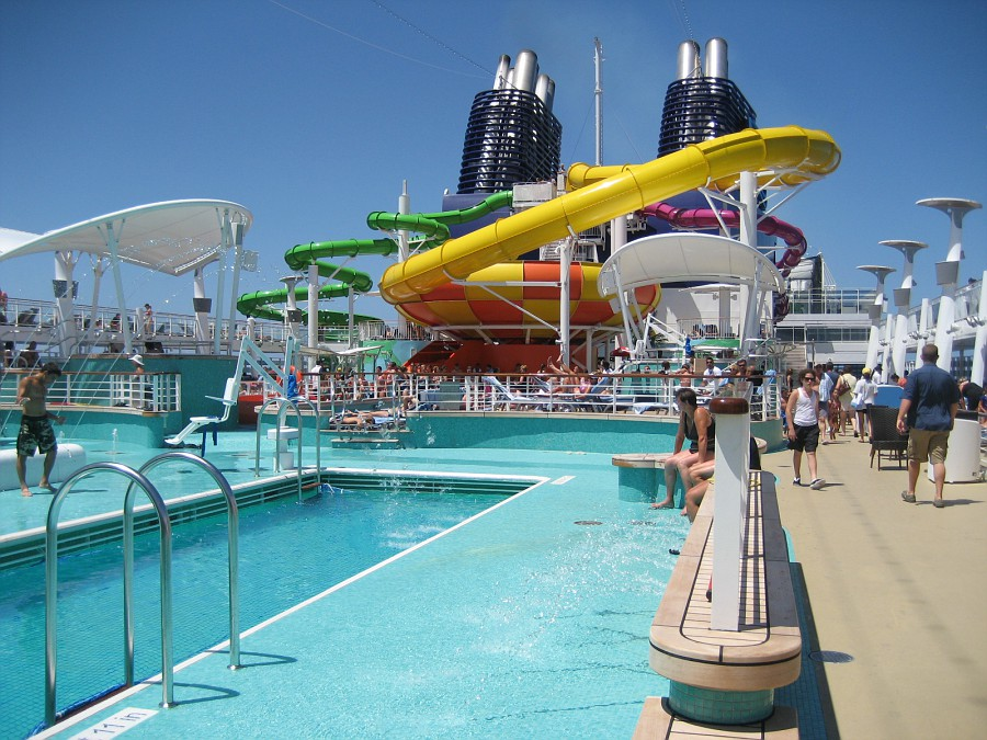 Pool deck epic vs oasis cruise critic message board forums for Epic pool show