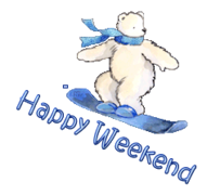 Happy Weekend - SnowboardingPolarBear
