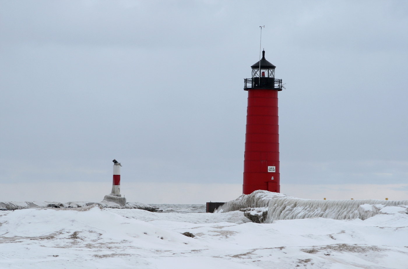 Kenosha Lighthouse and Harbor Marker 2