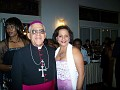 Auxiliary Bishop Guy A. Sansaricq and Rachel Moscoso Denis