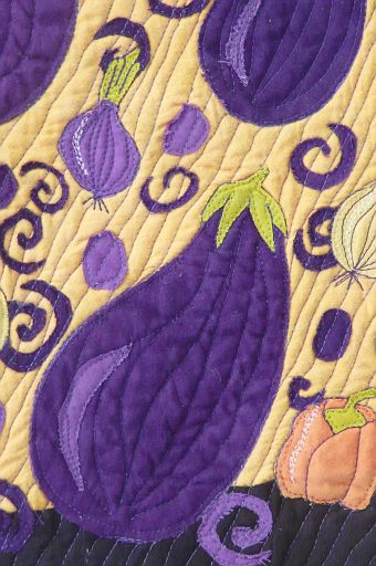 Aubergine Deluge detail one