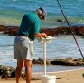Beach fishing - fresh bait time 001