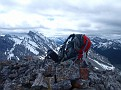 My backpack on the summit
