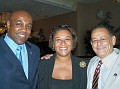 Senator Kwame Raoul , Marie Florence Bell, Senator Michel Clérié
