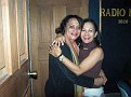 Rachel and Mimi after her interview with Alex St. Surin at Radio Mega.