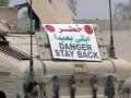 DANGER sign for convoys
