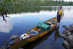 Stuff is back in the canoe,