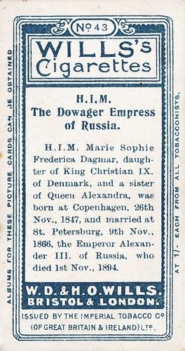 1908 Wills European Royalty #043 (2)