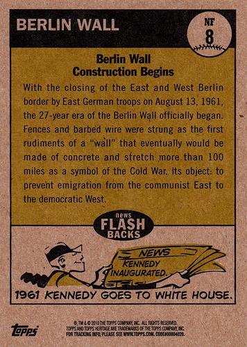 2010 Topps Heritage 1961 News Flashbacks #NF08 (2)
