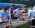 Preping boat