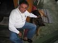 IMG 3668 Rico, Liv's Geman shepherd is carressed by Stein