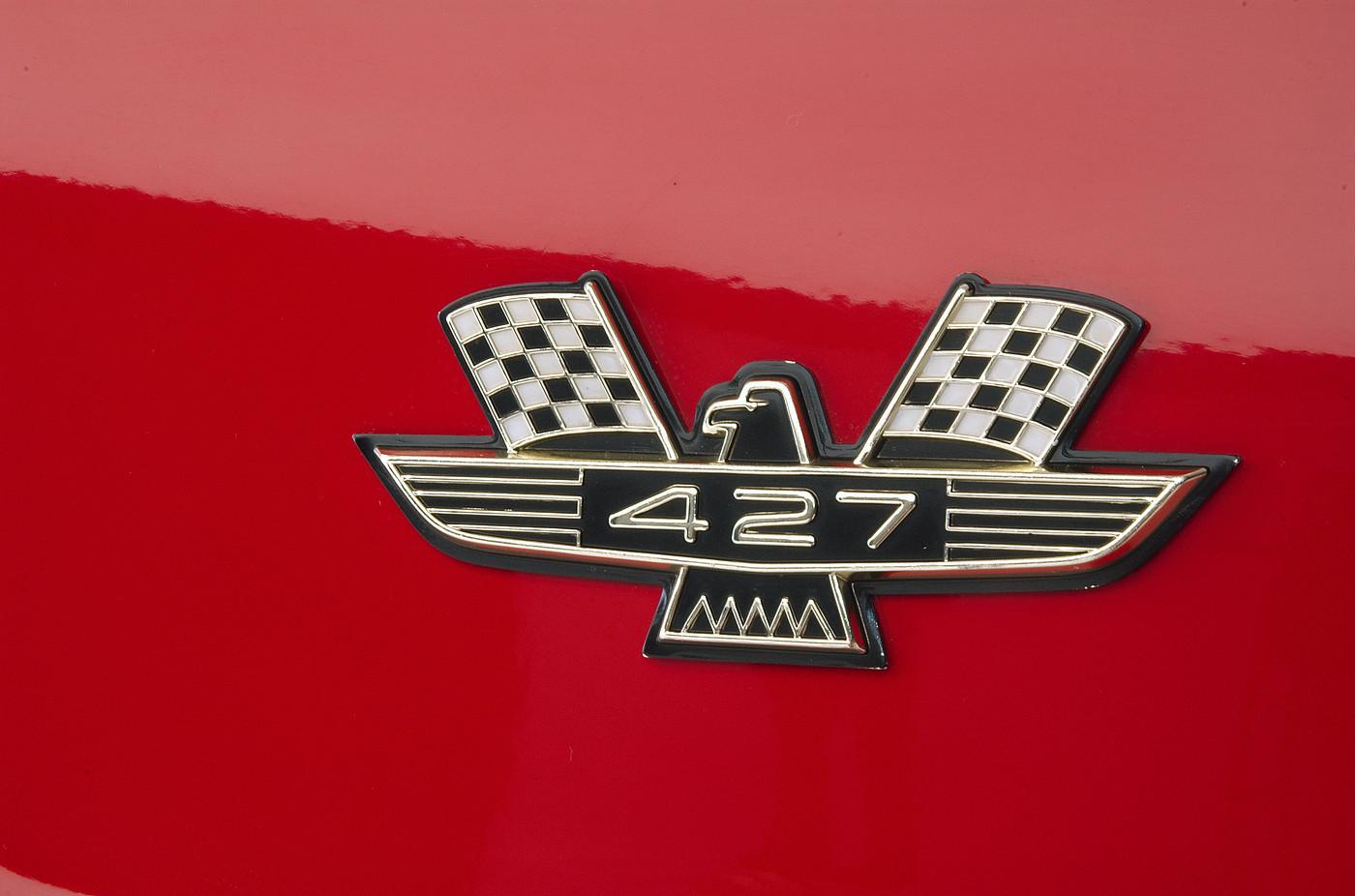 1963 Ford Galaxie 500 XL 427 R-code 427 emblem detail