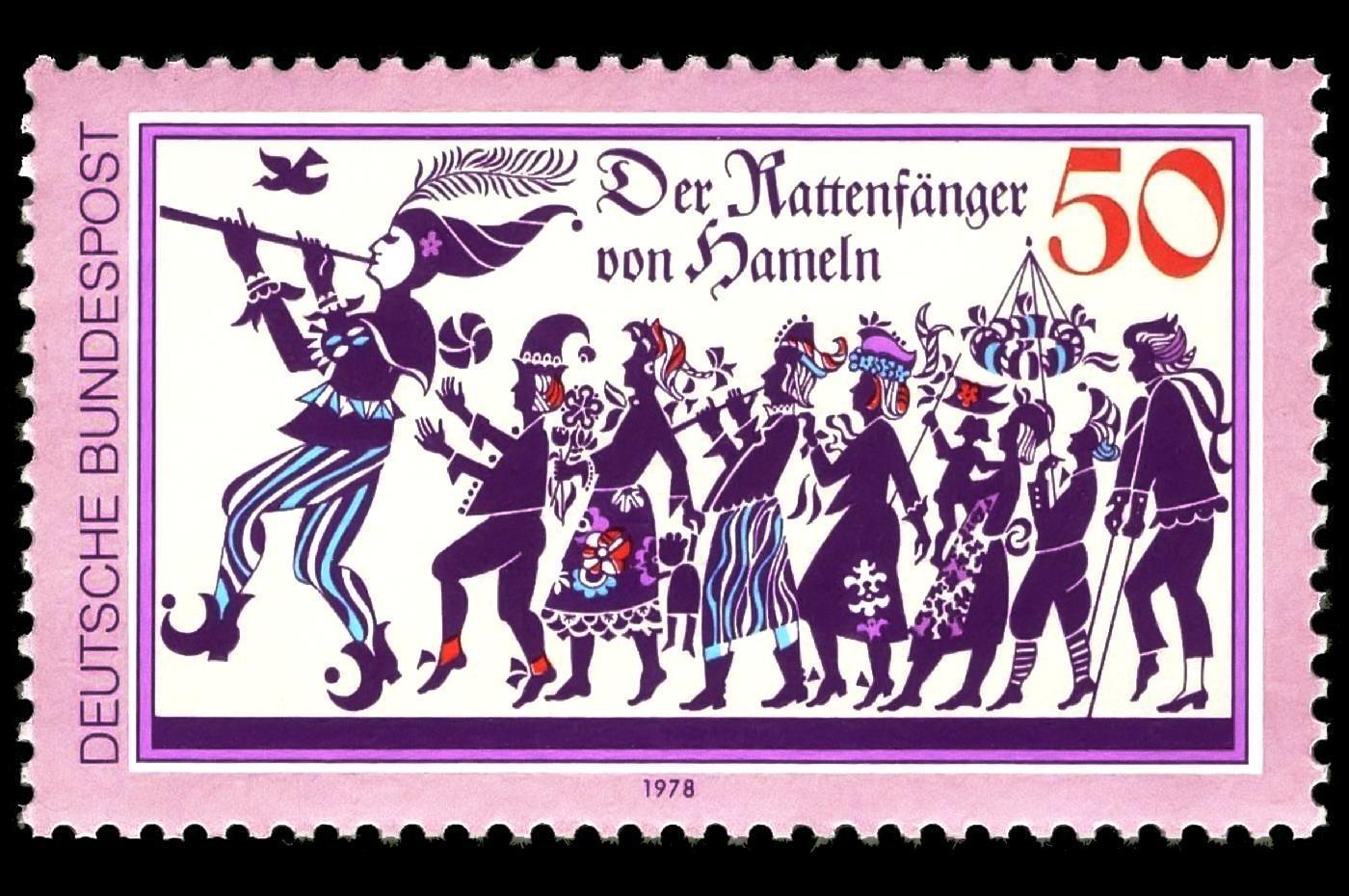 Briefmarke - Der Rattenfänger von Hameln