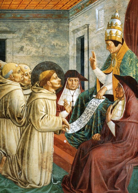 Сон Иннокентия III и утверждение устава. Деталь. 1452