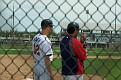 Opposing managers chatting - Jake Mauer and Doug Mientkiewicz