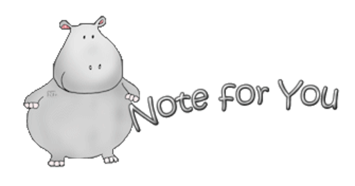 Note for You - CuteHippo2018