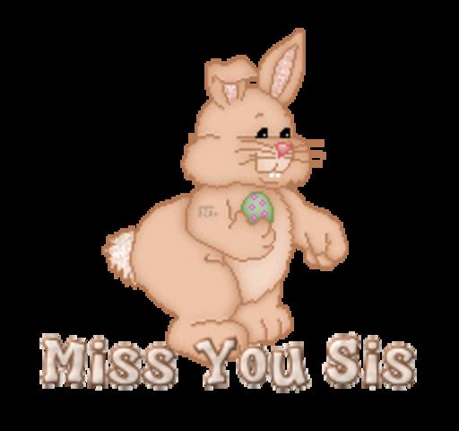 Miss You Sis - BunnyWithEgg