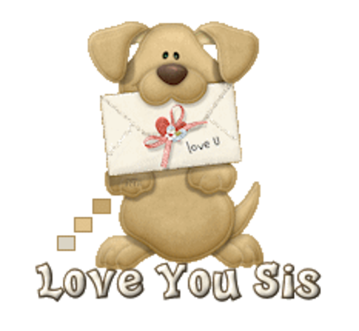 Love You Sis - PuppyLoveULetter