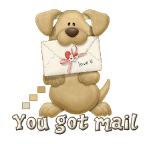 You got mail - PuppyLoveULetter