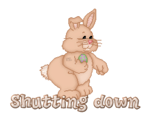 Shutting down - BunnyWithEgg