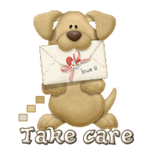 Take care - PuppyLoveULetter