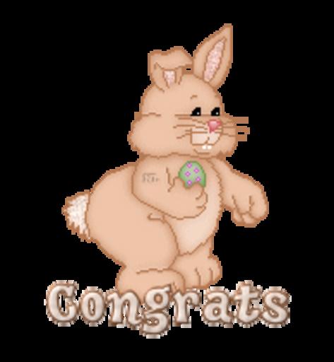 Congrats - BunnyWithEgg