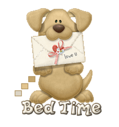 Bed Time - PuppyLoveULetter