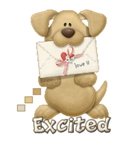 Excited - PuppyLoveULetter