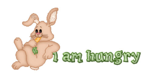 I am hungry - BunnyWithCarrot