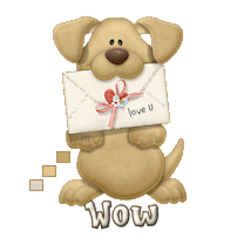 Wow - PuppyLoveULetter