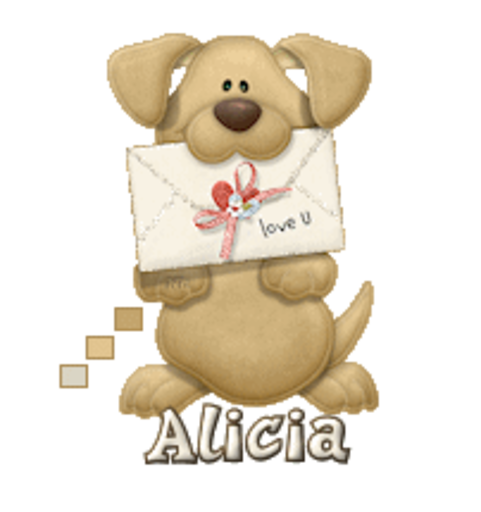 Alicia - PuppyLoveULetter