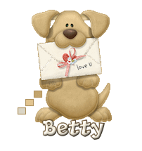 Betty - PuppyLoveULetter