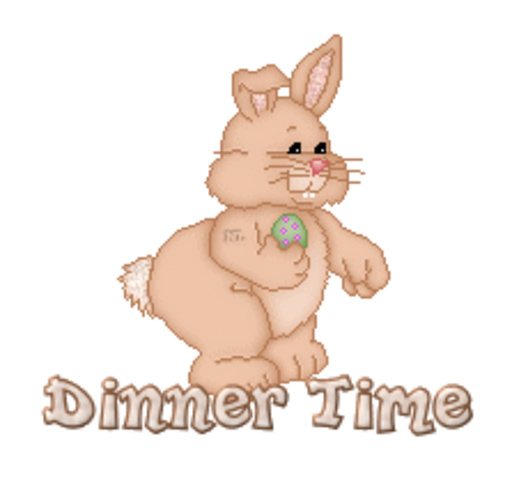 Dinner Time - BunnyWithEgg