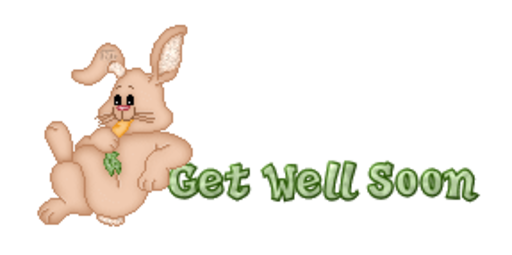 Get Well Soon - BunnyWithCarrot