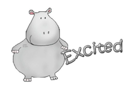 Excited - CuteHippo2018