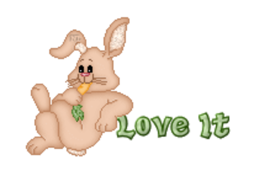 Love It - BunnyWithCarrot