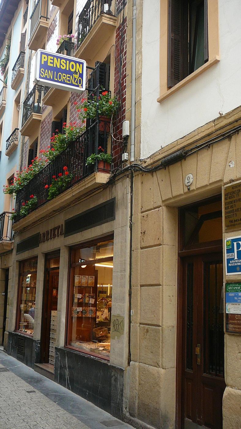 Pension (Hotel) in San Sabastian