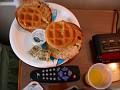 DSCN8343  typical breakfast for sleepy teen at Surfside Hotel