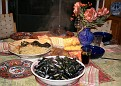 delicilous meal with fresh muscles