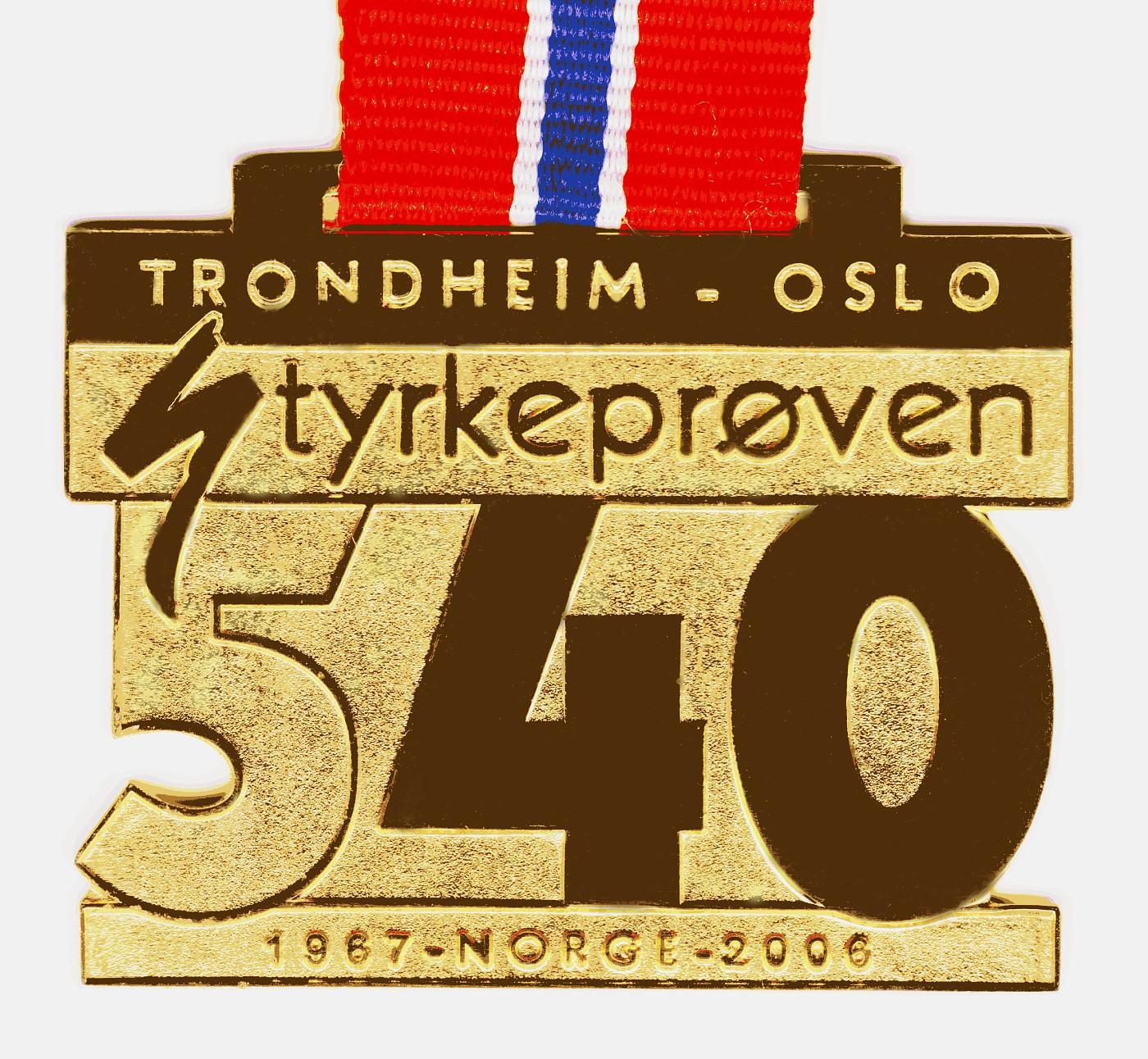 Medaille Styrkeprøven 2006