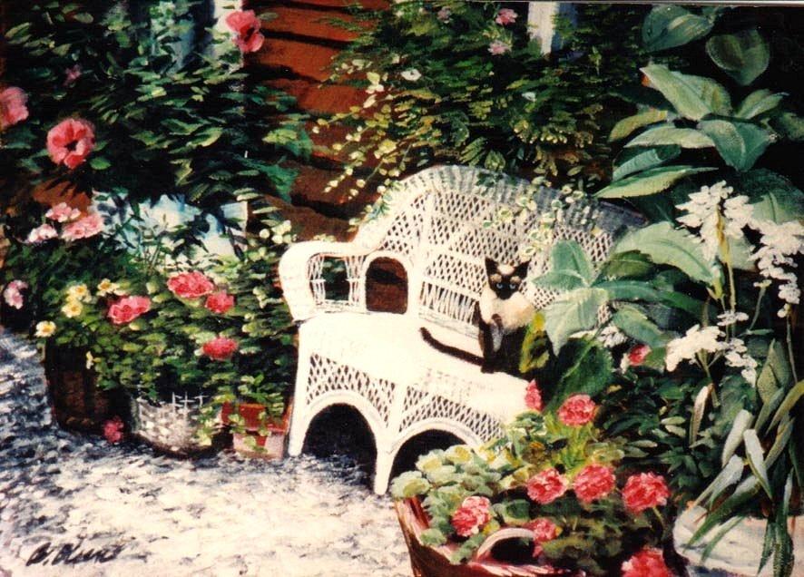 Siamese in the garden
