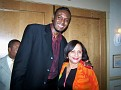 Famous Haitian American Basketball player Dalembert in the company of PR Rachel Moscoso Denis