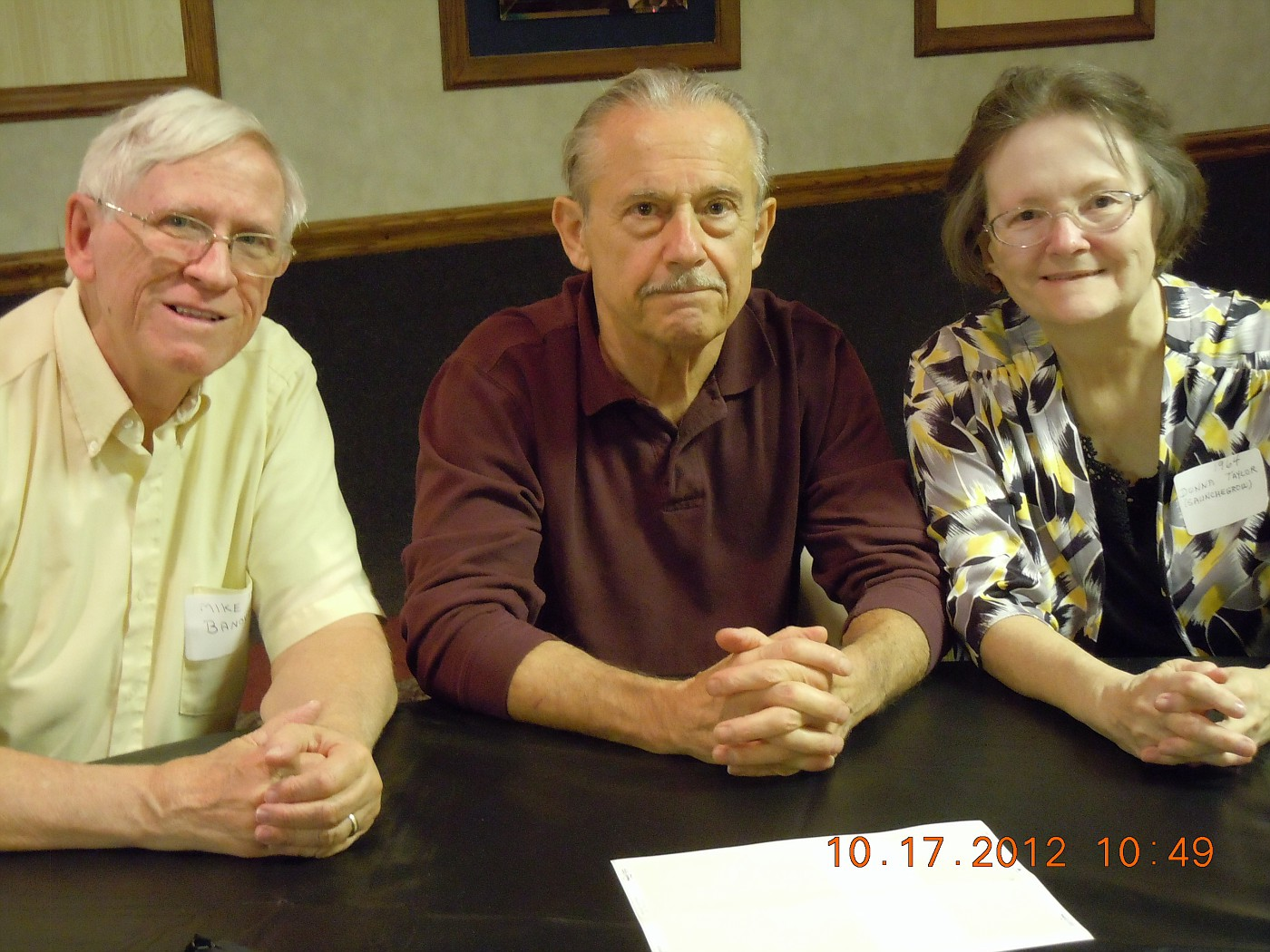 Mike Banovz, Dan Verlinick, Donna Taylor