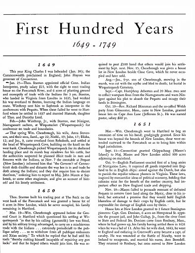 STONINGTON CHRONOLOGY - PAGE 011