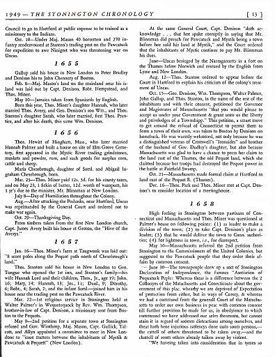 STONINGTON CHRONOLOGY - PAGE 013